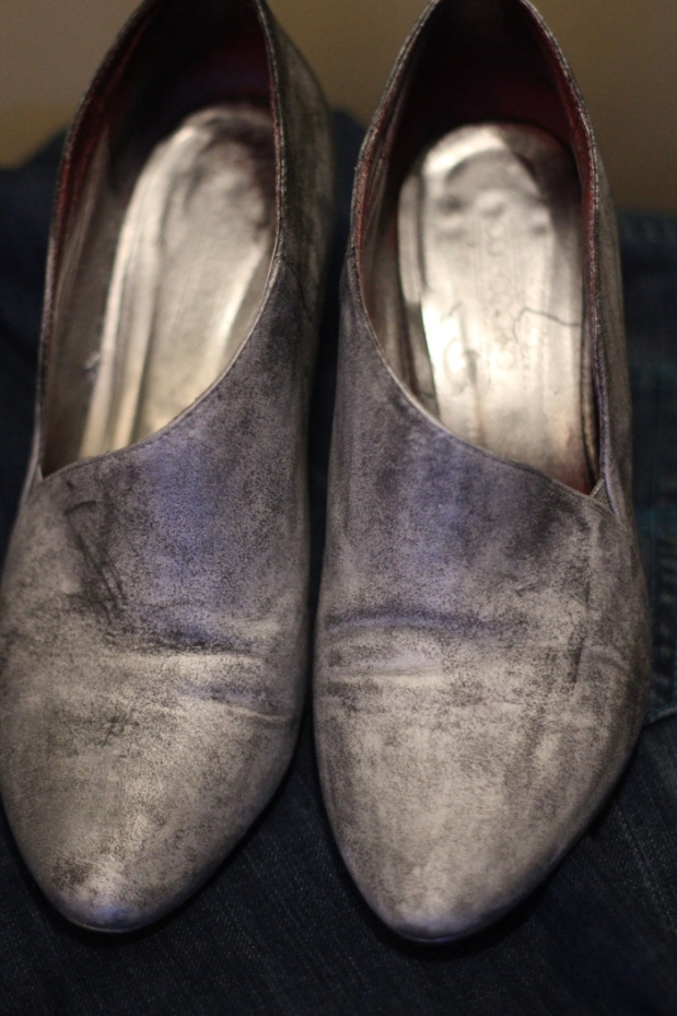 замшевые туфли DIY