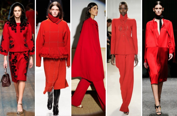 главные тенденции осени 2014 красное леди в красном
